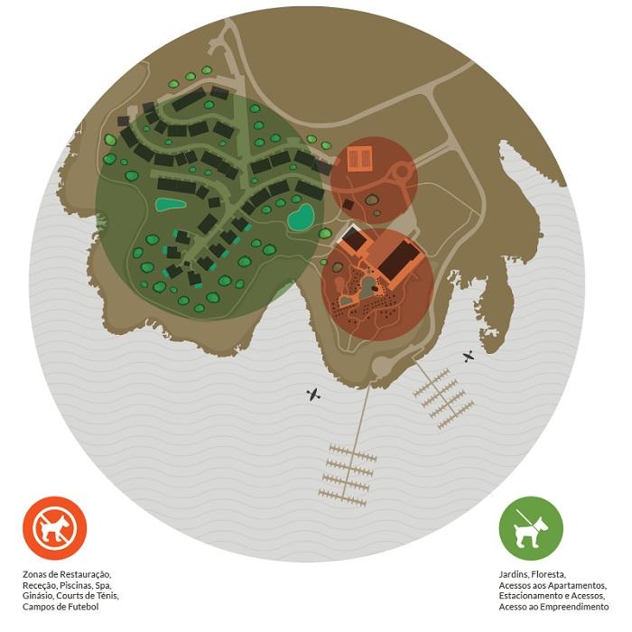 Mapa do Resort - Montebelo Aguieira Lake Resort & Spa